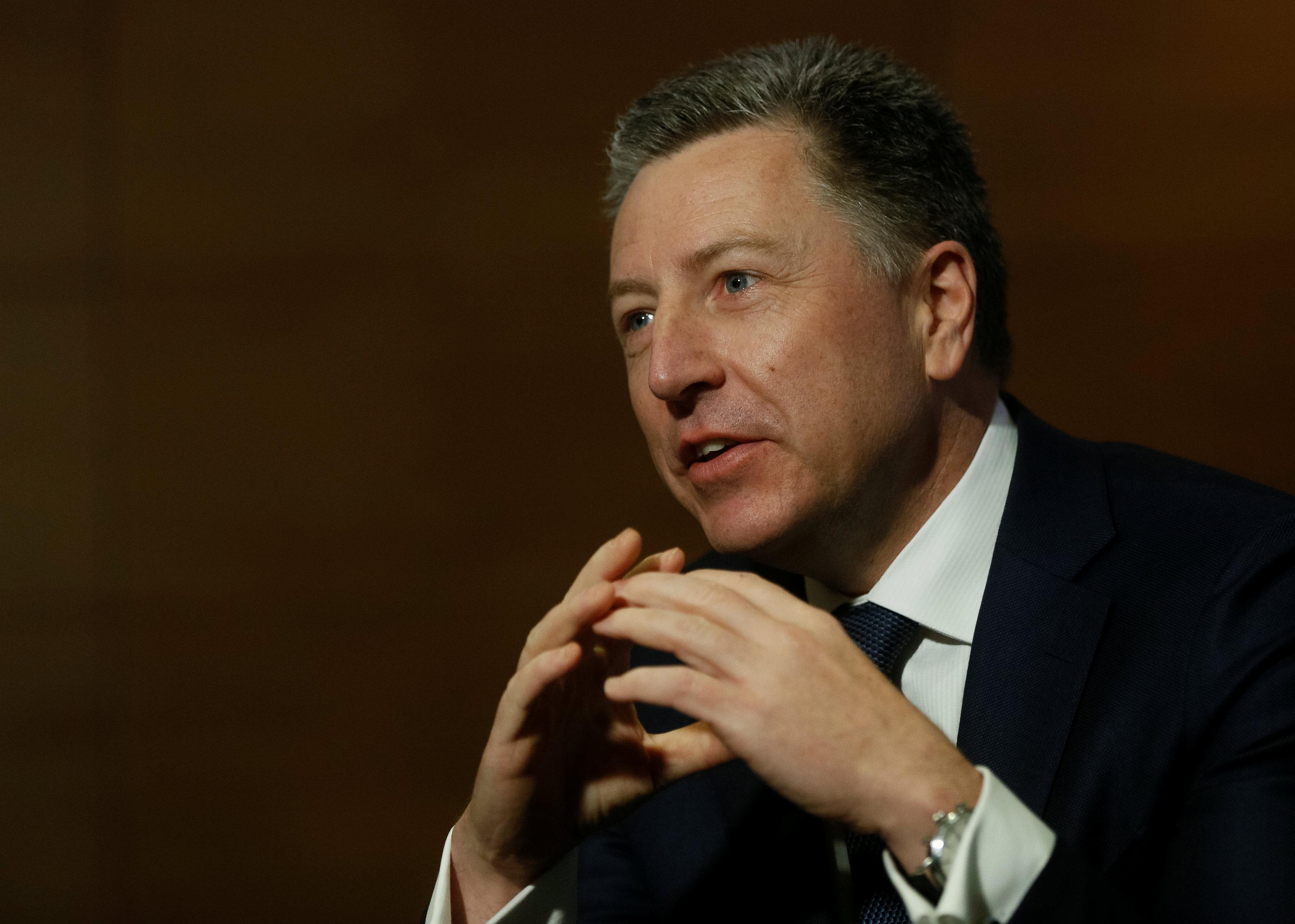Kurt Volker, United States Special Representative for Ukraine Negotiations, speaks during an interview with Reuters in Kiev, Ukraine October 28, 2017. REUTERS/Valentyn Ogirenko