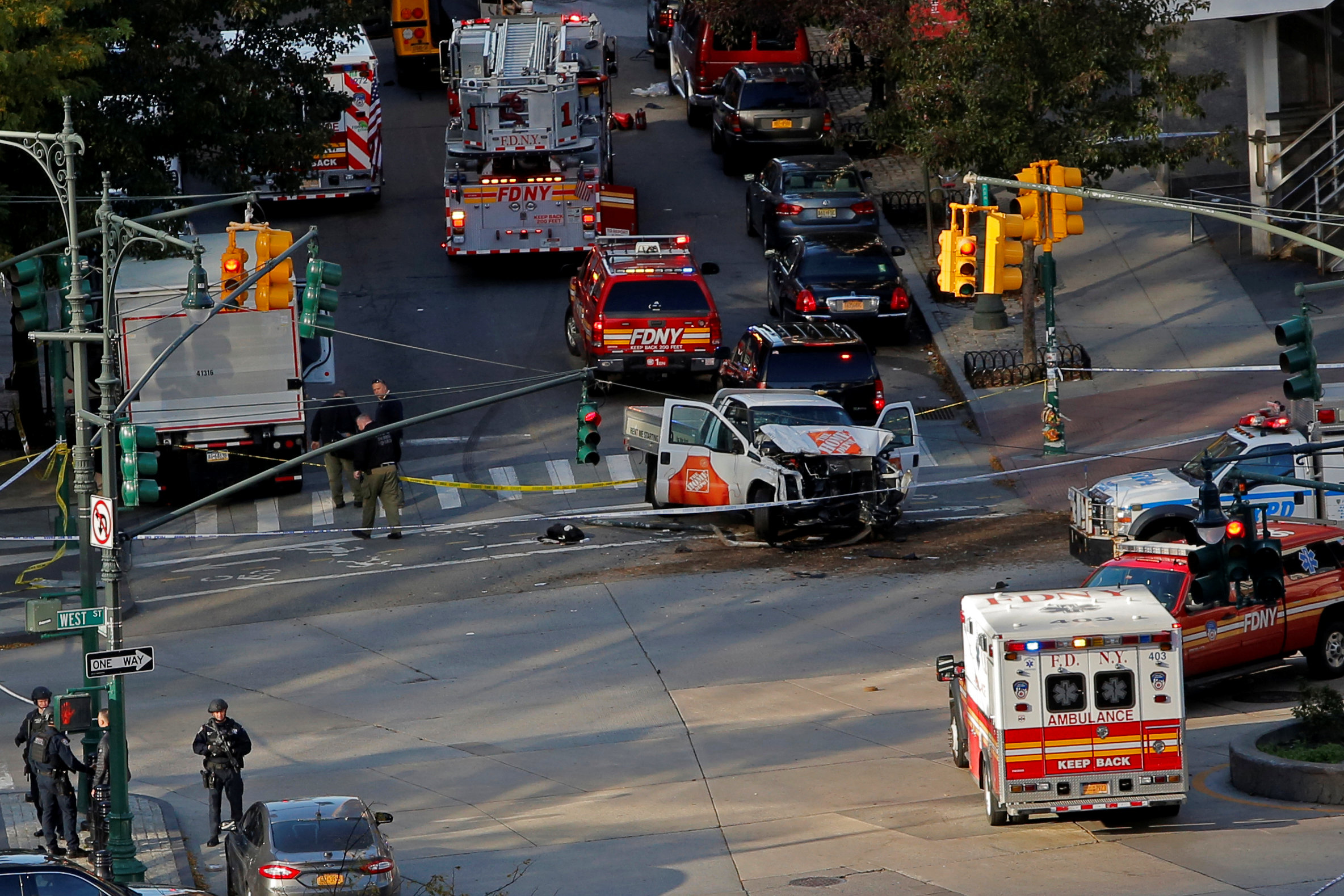 Several people killed by vehicle on New York City bike path