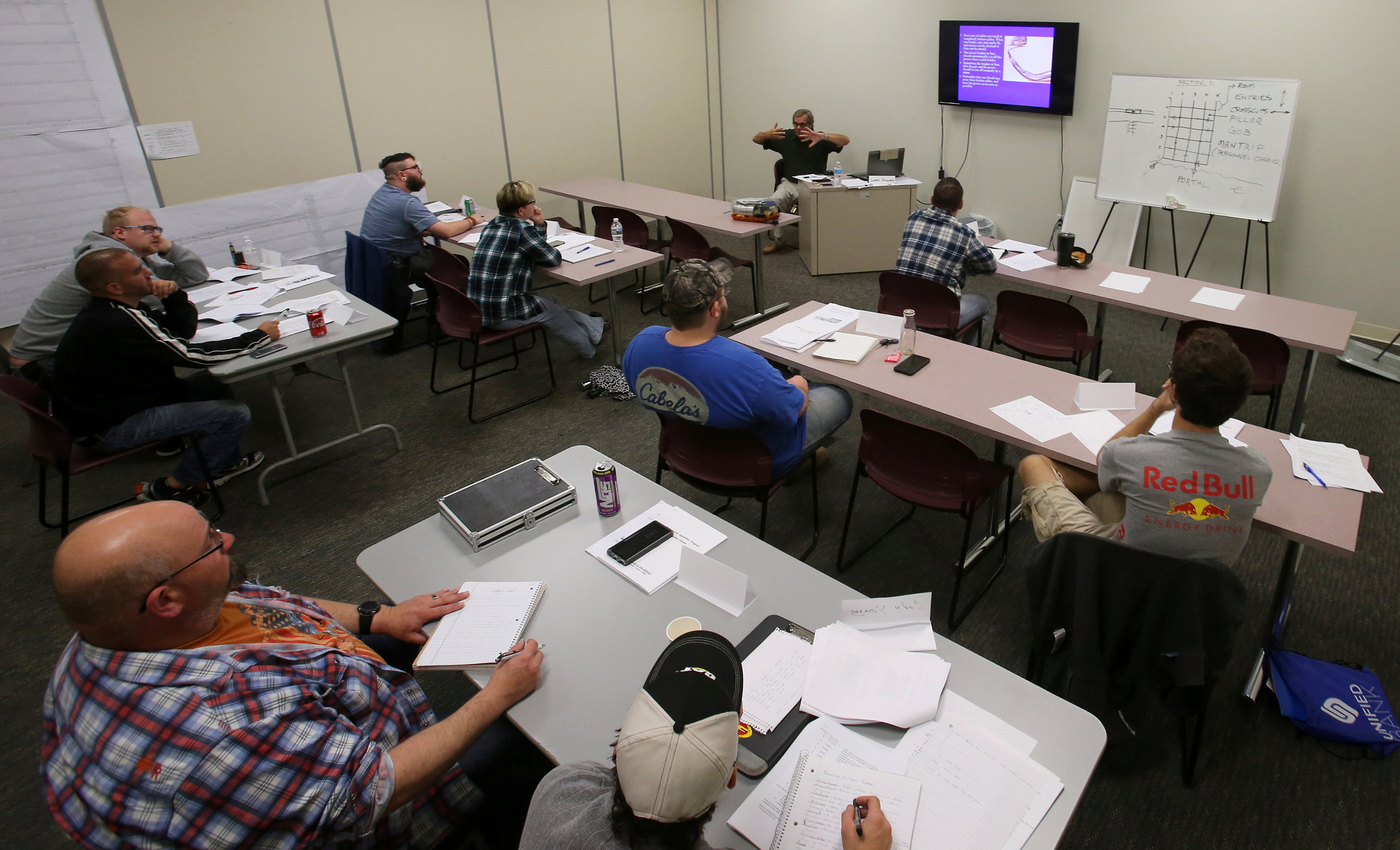 Students sit in a training class at the Pennsylvania Career Link office located in Waynesburg.