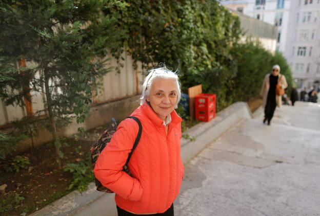 Idil Eser, the director of Amnesty in Turkey, poses during an interview with Reuters in Istanbul, Turkey, October 31, 2017.