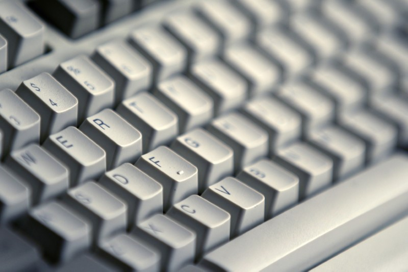 A computer keyboard is seen in Bucharest April 3, 2012.