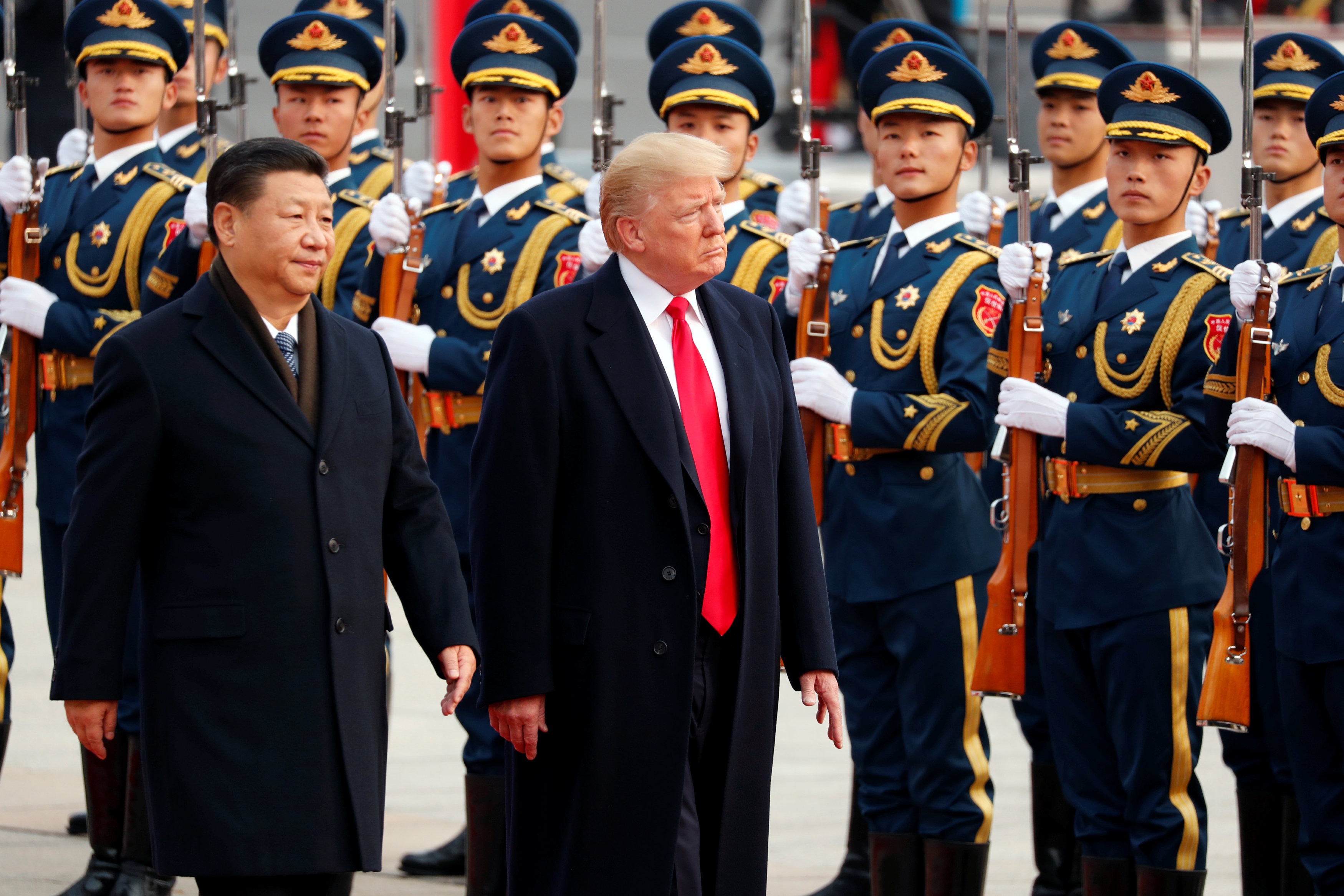 In Beijing, Trump presses China on North Korea and trade