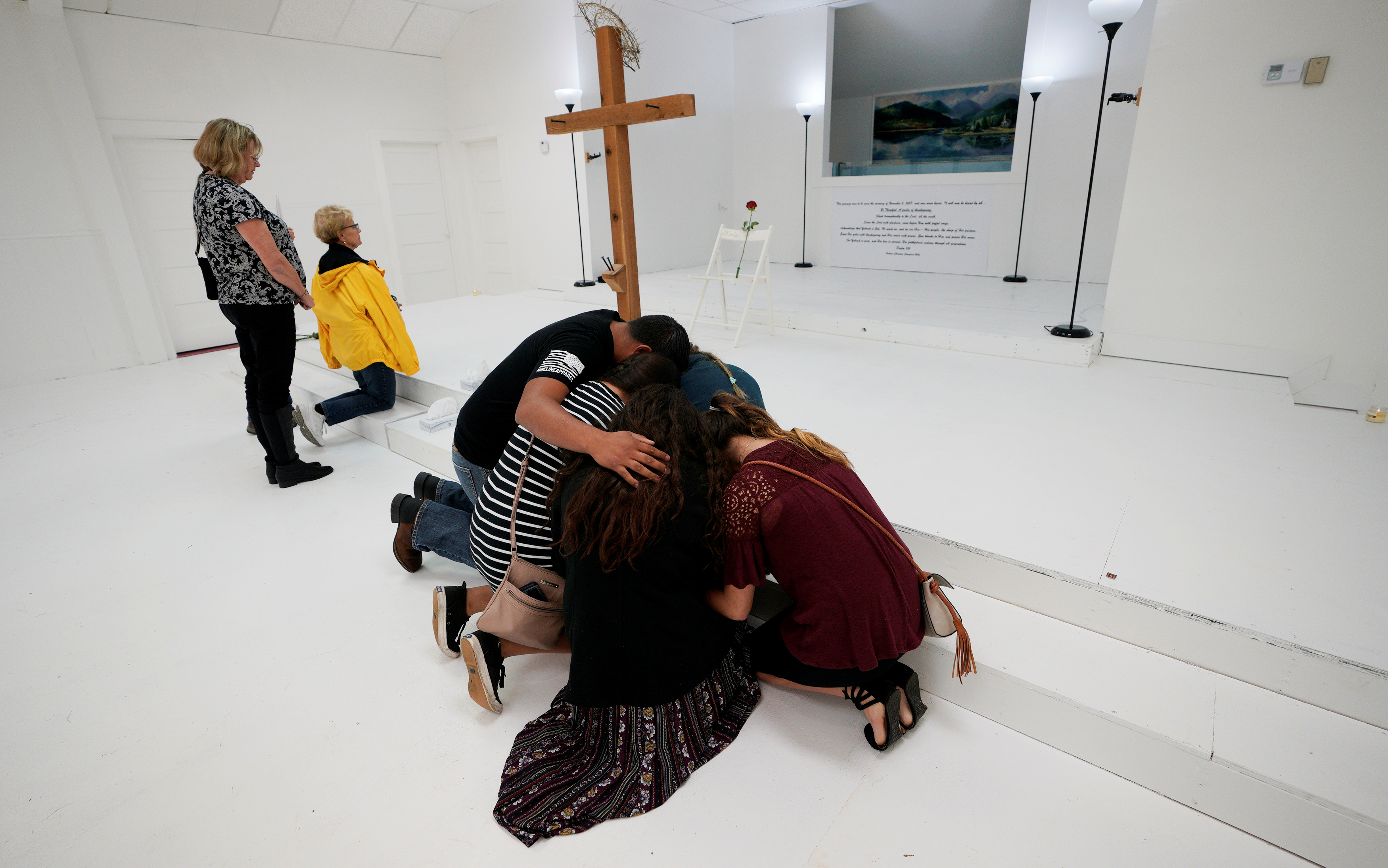 Texas church reopens as solemn memorial to shooting victims