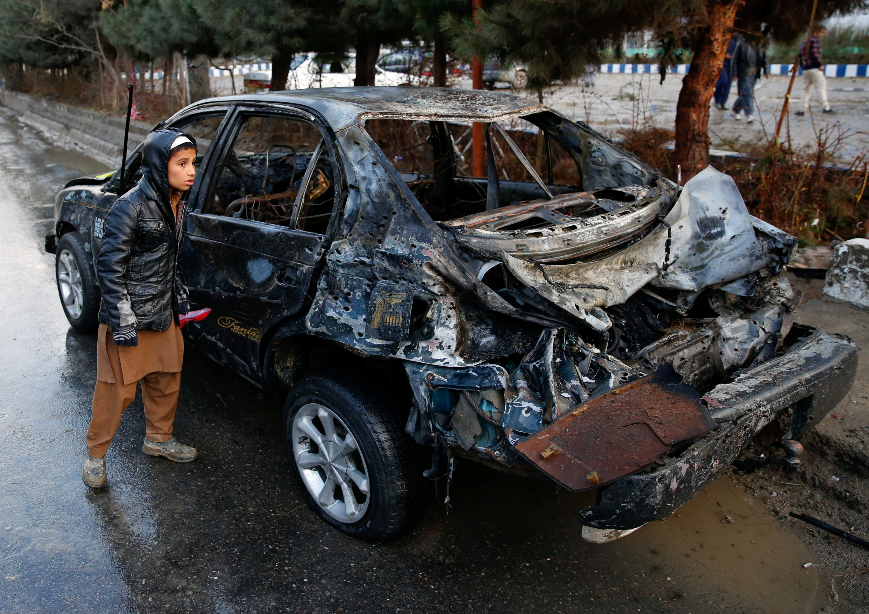 Suicide bomb attack near Afghan political gathering kills nine