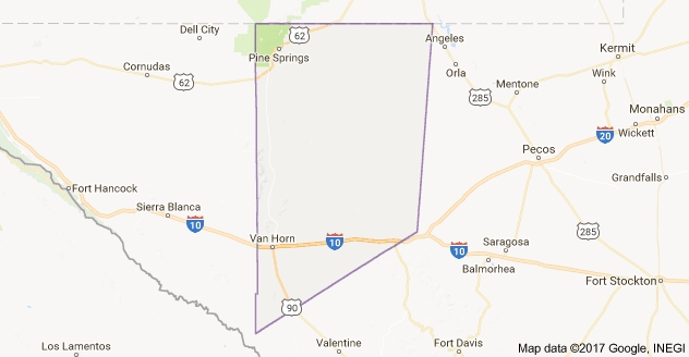 map of Culberson County Texas