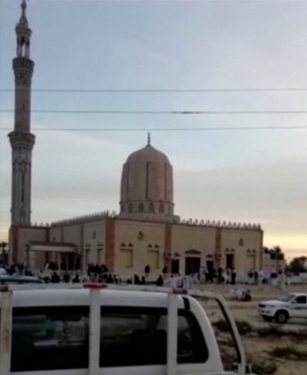 Egypt says attackers had Islamic State flag as mosque death toll rises