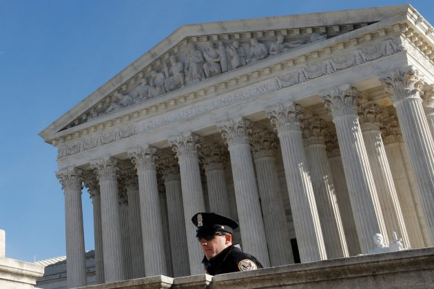 U.S. Supreme Court is seen in Washington, U.S., November 27, 2017. The Court, which has avoided major gun cases for seven years, on Monday declined to hear a challenge backed by the National Rifle Association to Maryland's 2013 state ban on assault weapons enacted after a Connecticut school massacre.