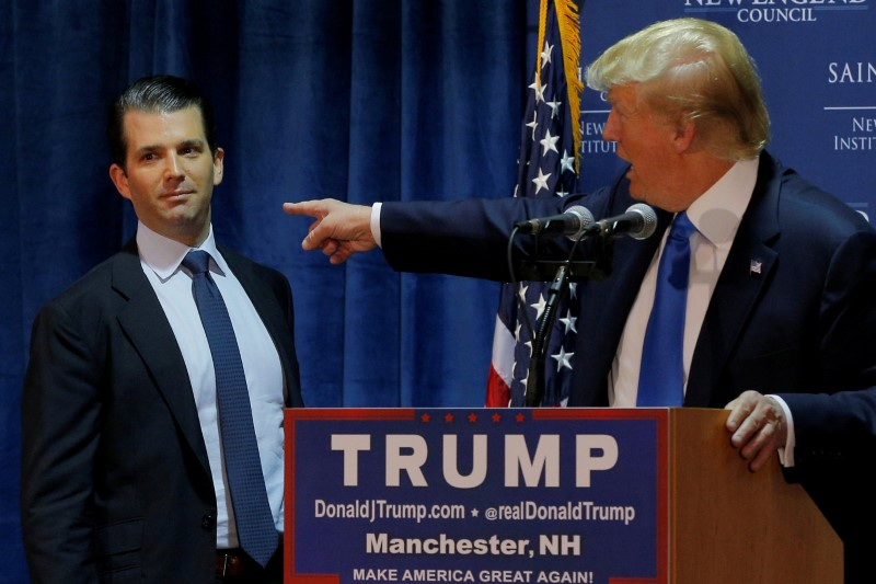 Trump's eldest son faces questions in Congress about Russia
