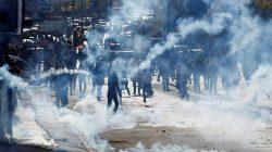 Israeli strikes kill two Gaza gunmen, but anti-Trump protests subside