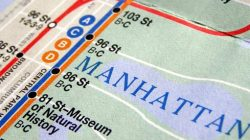 Subway Map Header Manhattan, NY