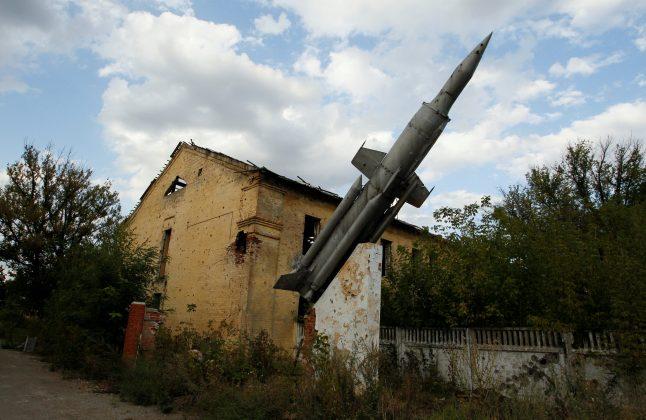 War-scarred neighborhoods in Ukraine's rebel-held Donetsk
