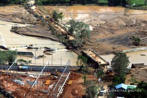 An aerial shot shows an impassable Caraycaray Bridge after it was destroyed when Typhoon Kai-tak, locally name Urduja, ravaged Biliran Province, Philippines December 18, 2017. Malacanang Presidential Photo/Handout via REUTERS
