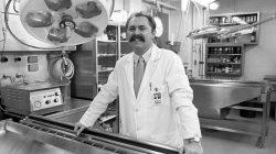 Arthur Rathburn is pictured at the University of Michigan in Ann Arbor, Michigan, U.S. in November 1988.