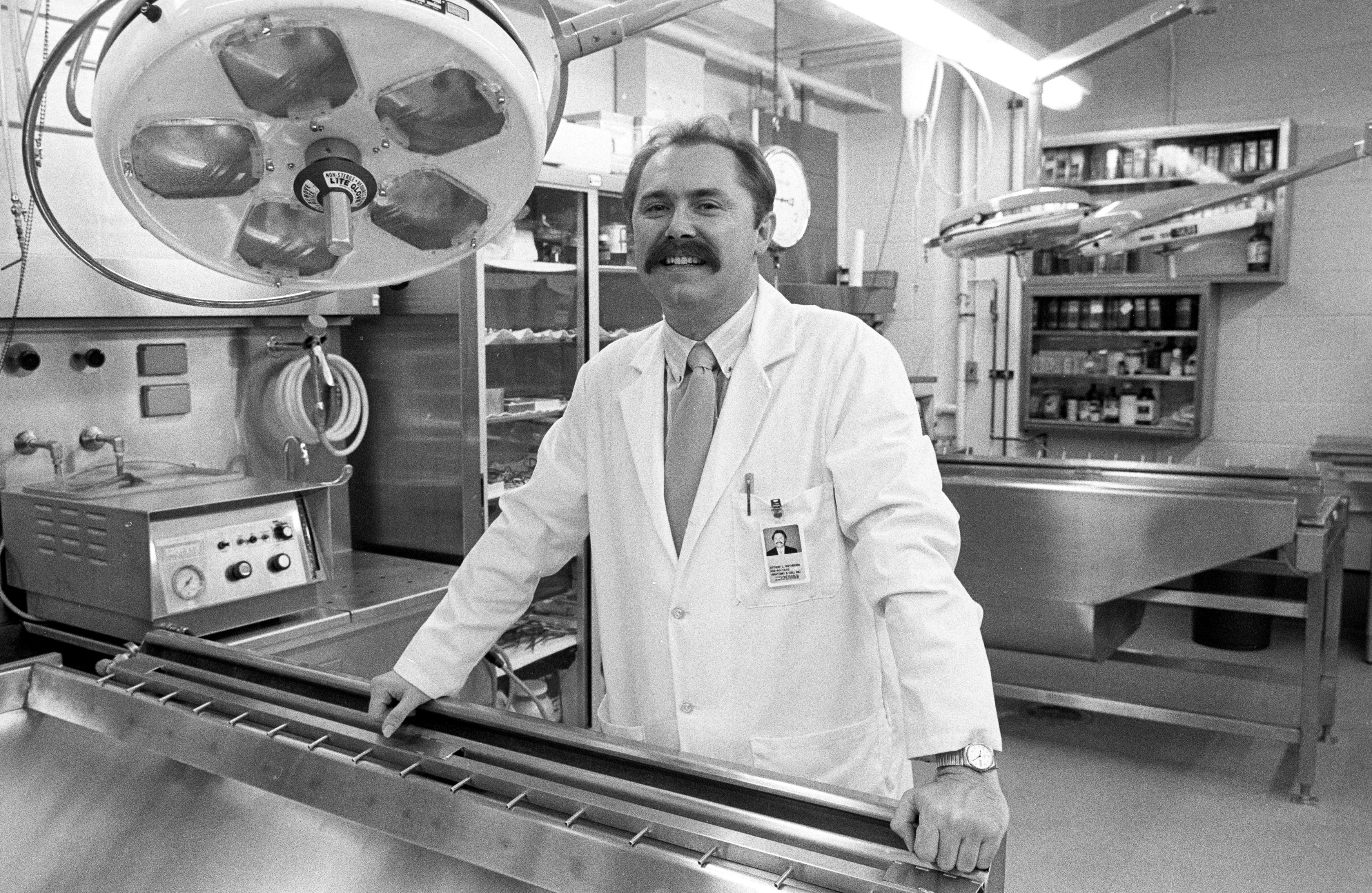 Arthur Rathburn is pictured at the University of Michigan in Ann Arbor, Michigan, U.S. in November 1988.