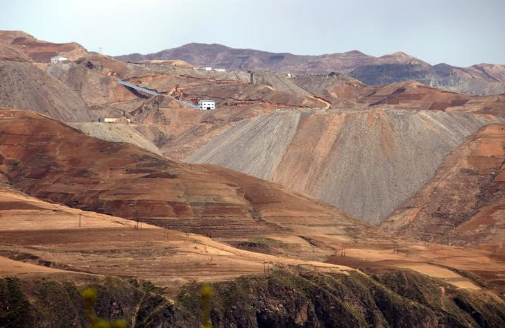 A North Korean iron ore mine, near the North Korean town of Musan is seen in this general view taken May 11, 2013.