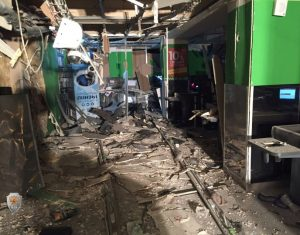 An interior view of a supermarket is seen after an explosion in St Petersburg, Russia, in this photo released by Russia's National Anti-Terrorism Committe on December 28, 2017.
