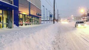 A general view of 1925 State Street after the record snowfall in Erie, Pennsylvania, U.S., December 26, 2017 in this picture obtained from social media.