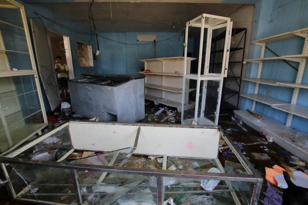 A general view of the damage at a mini-market after it was looted in Puerto Ordaz, Venezuela January 9, 2018.
