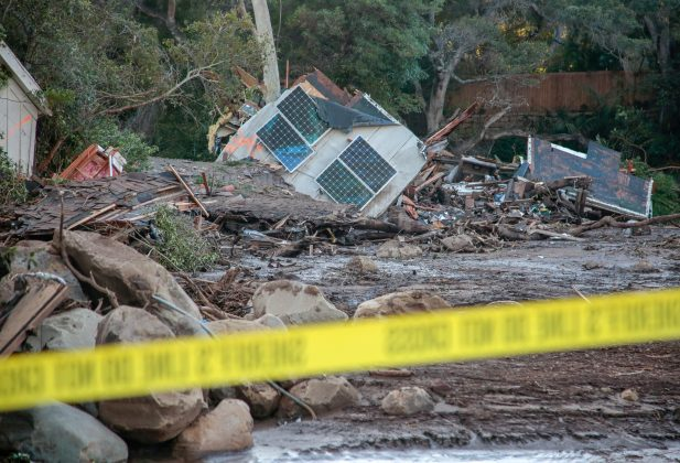 Damaged properties are seen after a mudslide in Montecito, California, U.S. January 11, 2018.