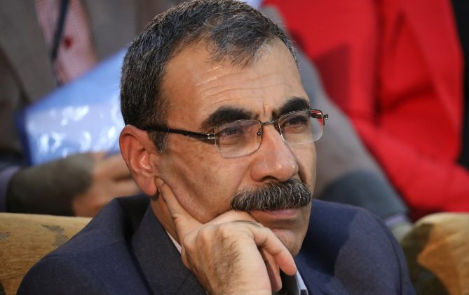 Aldar Khalil, a Kurdish politician is seen in the town of Rmeilan, Hasaka province, Syria September 27, 2017. Picture taken September 27, 2017.