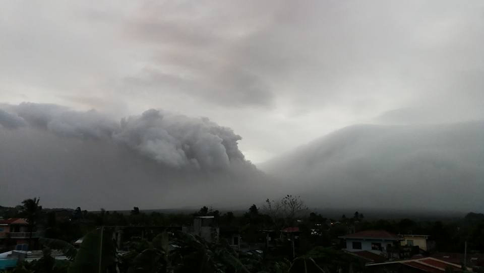 Mount Mayon erupts in Legazpi City, Philippines, January 13, 2018 in this still obtained from social media. Picture taken January 13, 2018.