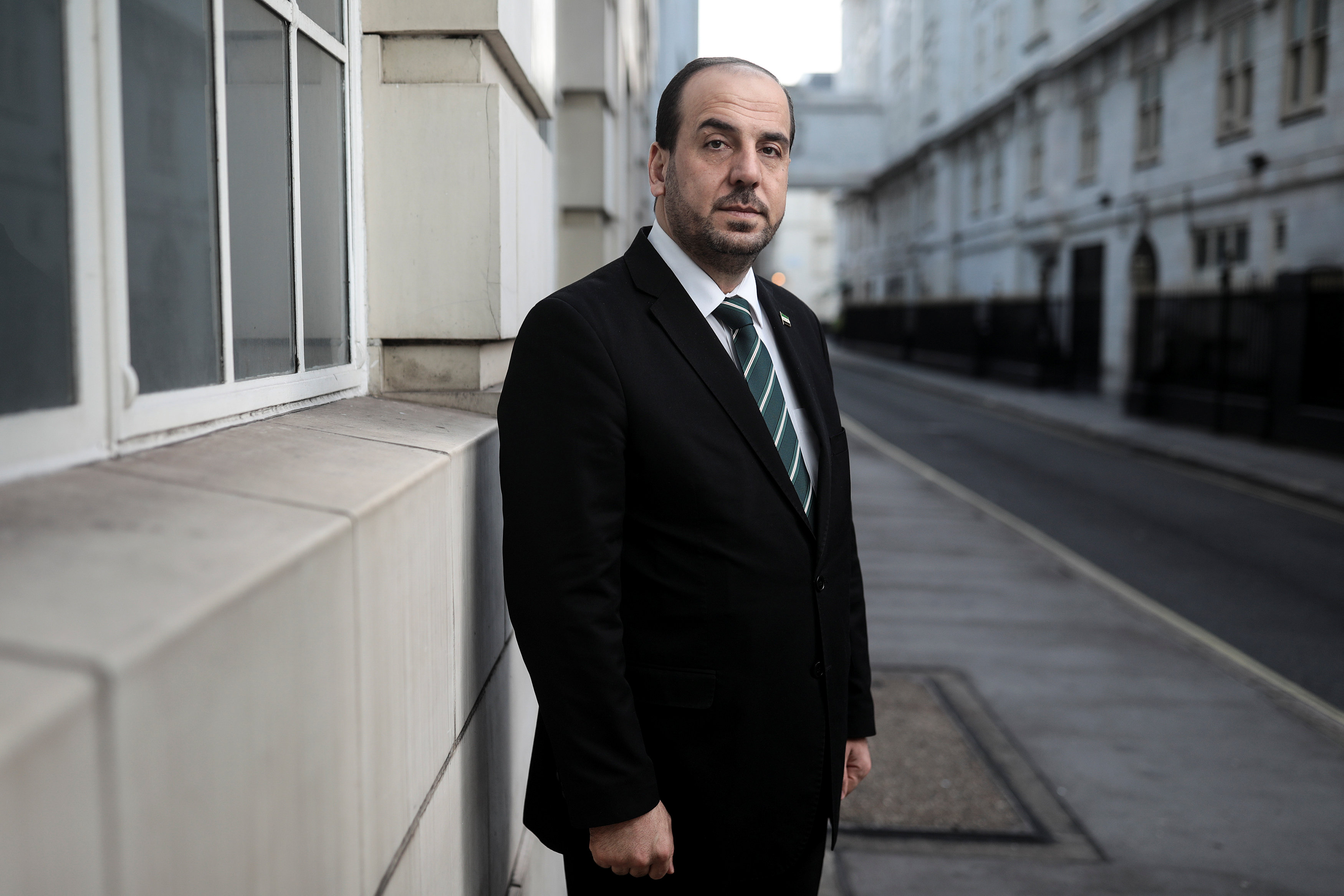 Nasr Hariri, chief negotiator for Syria's main opposition, poses for a photograph in central London, Britain January 16, 2018.
