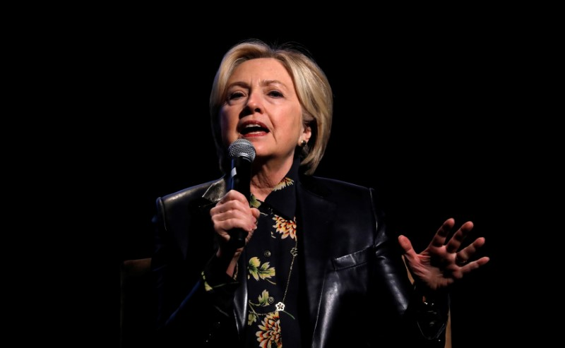 Former U.S. Secretary of State and 2016 Democratic presidential nominee Hillary Clinton speaks during the LA Promise Fund's Girls Build Leadership summit in Los Angeles, California, U.S., December 15,