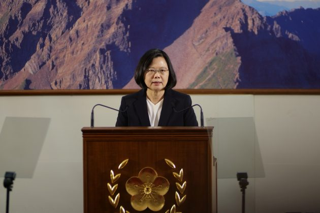 Taiwan's President Tsai Ing-wen speaks during the end-of-year news conference in Taipei, Taiwan December 29, 2017.
