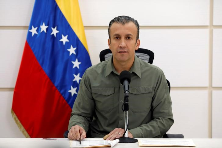 Venezuela's Vice President Tareck El Aissami talks to the media during a news conference in Caracas, Venezuela November 17, 2017.