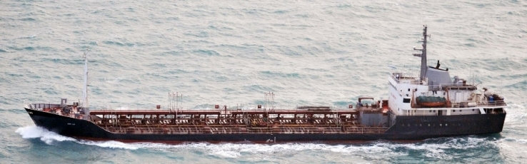 "The North Korean-flagged tanker ""Rye Song Gang 1"" is pictured on the East China sea in this photo taken on January 20, 2018 and released by Japan's Ministry of Defense. Defense Ministry of Japan/Handout via REUTERS"