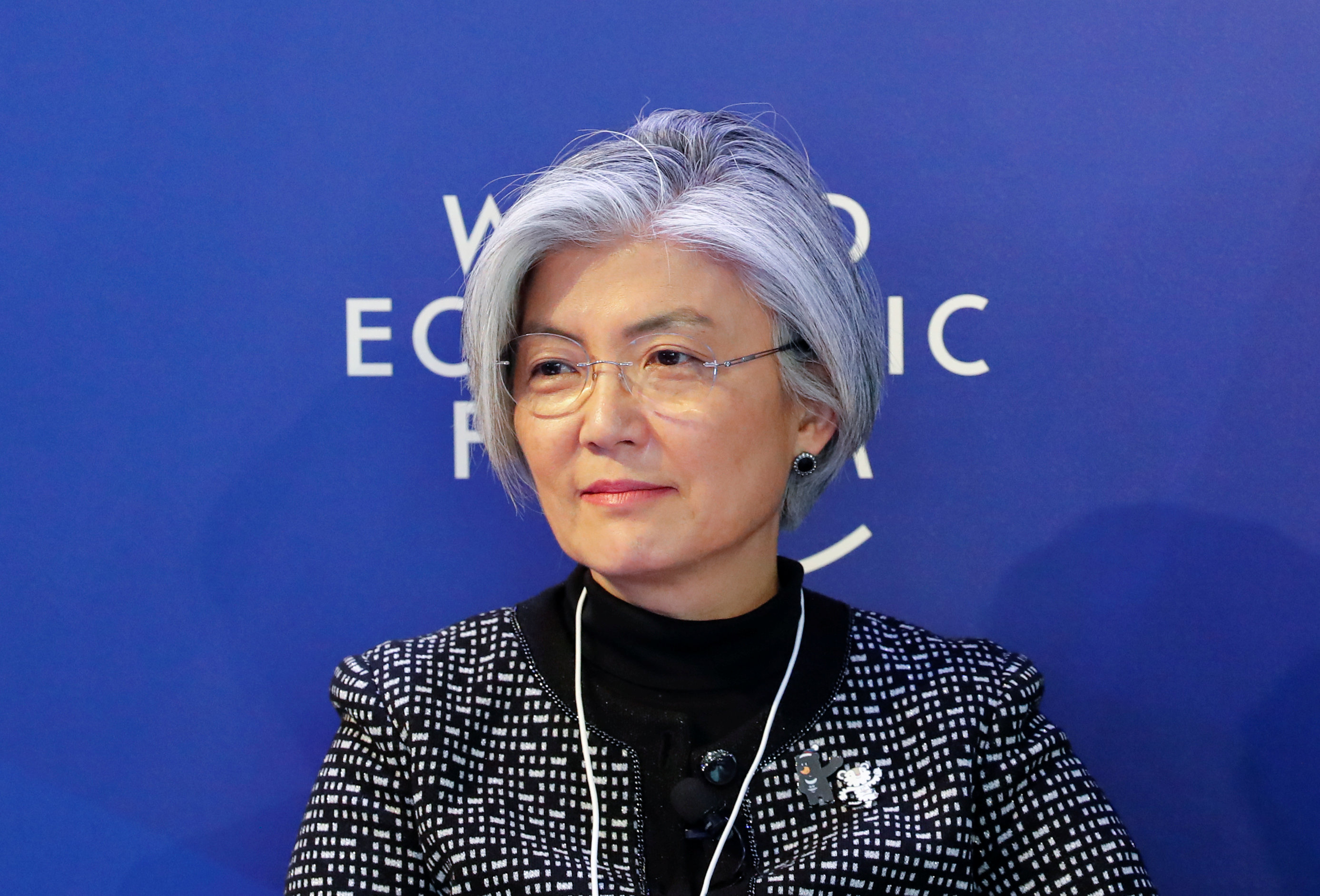 Kang Kyung-Wha, South Korea's Foreign Minister, attends the World Economic Forum (WEF) annual meeting in Davos, Switzerland January 25, 2018.