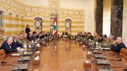 Lebanese President Michel Aoun meets with Lebanon's Higher Defence Council at the presidential palace in Baabda, Lebanon February 7, 2018