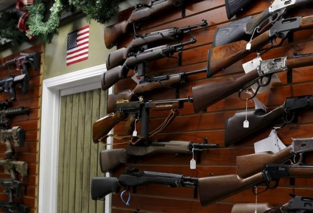Firearms are shown for sale at the AO Sword gun store in El Cajon, California, January 5, 2016. REUTERS/Mike Blake