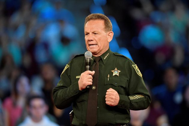 Broward County Sheriff Scott Israel speaks before the start of a CNN town hall meeting at the BB&T Center, in Sunrise, Florida, U.S. February 21, 2018. REUTERS/Michael Laughlin/Pool/File Photo