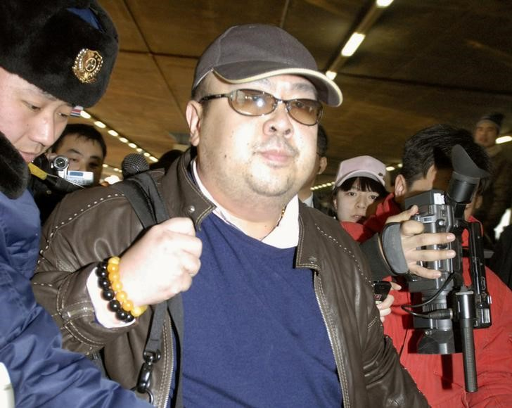 FILE PHOTO - Kim Jong Nam arrives at Beijing airport in Beijing, China, in this photo taken by Kyodo February 11, 2007. Picture taken February 11, 2007. Mandatory credit Kyodo/via REUTERS/File Picture.