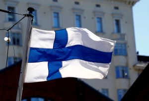 FILE PHOTO: Finland's flag flutters in Helsinki, Finland, May 3, 2017. REUTERS/Ints Kalnins/File Photo