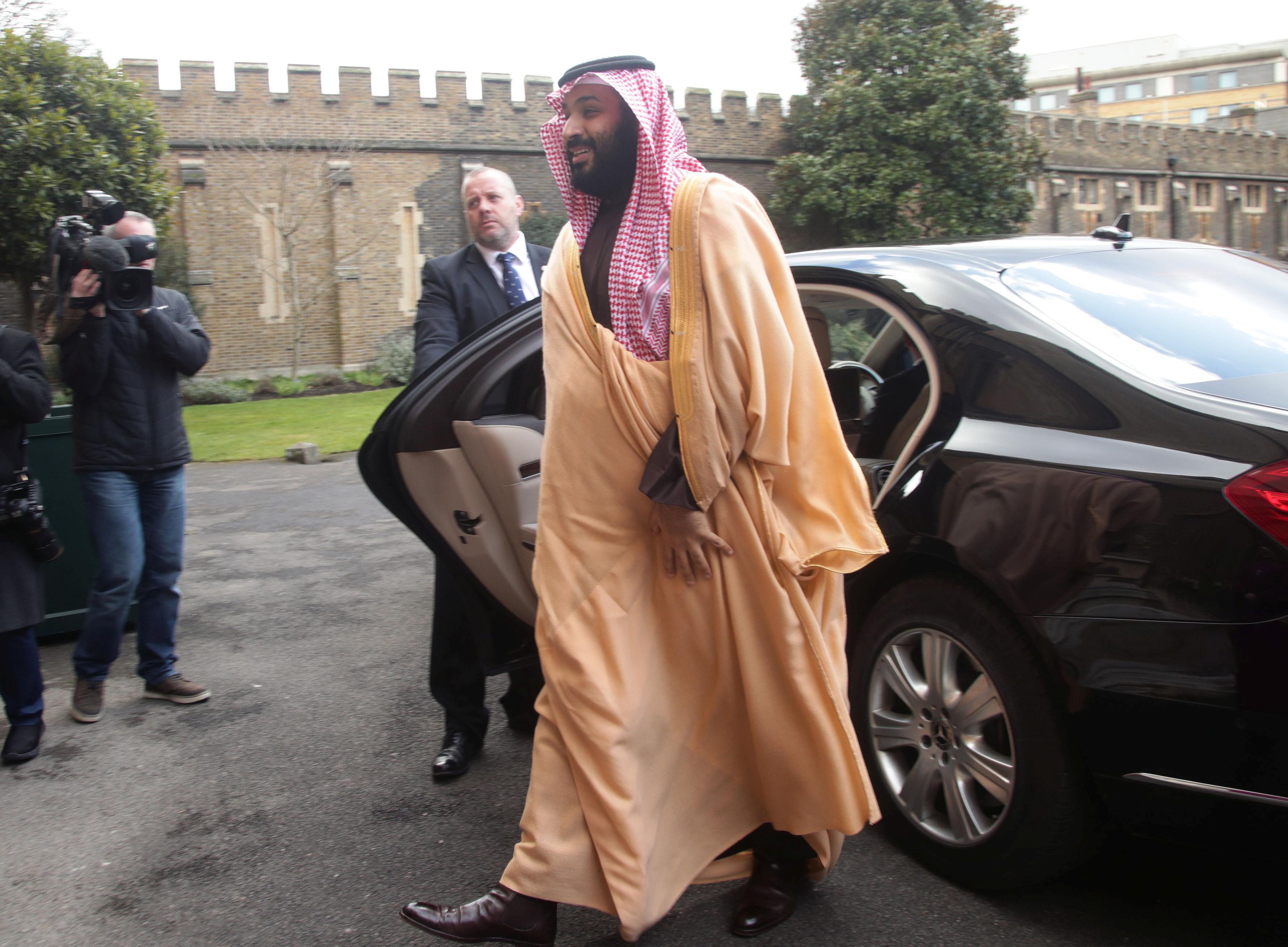 FILE PHOTO: The Crown Prince of Saudi Arabia Mohammed bin Salman arrives at Lambeth Palace, London, Britain, March 8, 2018. REUTERS/Yui Mok/Pool