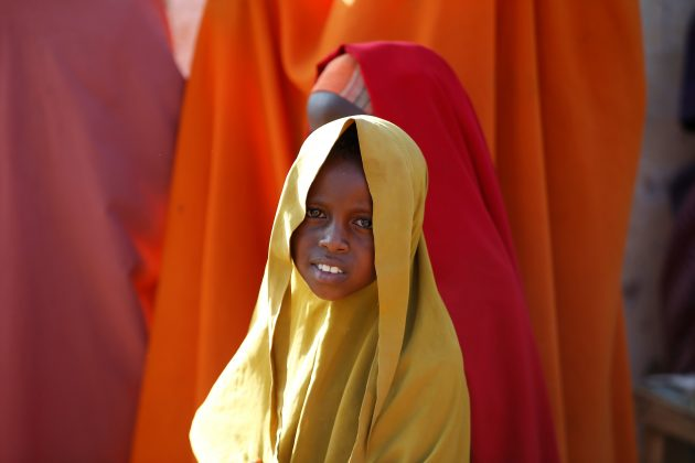 A Somali girl is seen at a internally displaced camp in the northern Somali town of Dollow, Somalia, February 25, 2018. Picture taken February 25, 2018. REUTERS/Baz Ratner