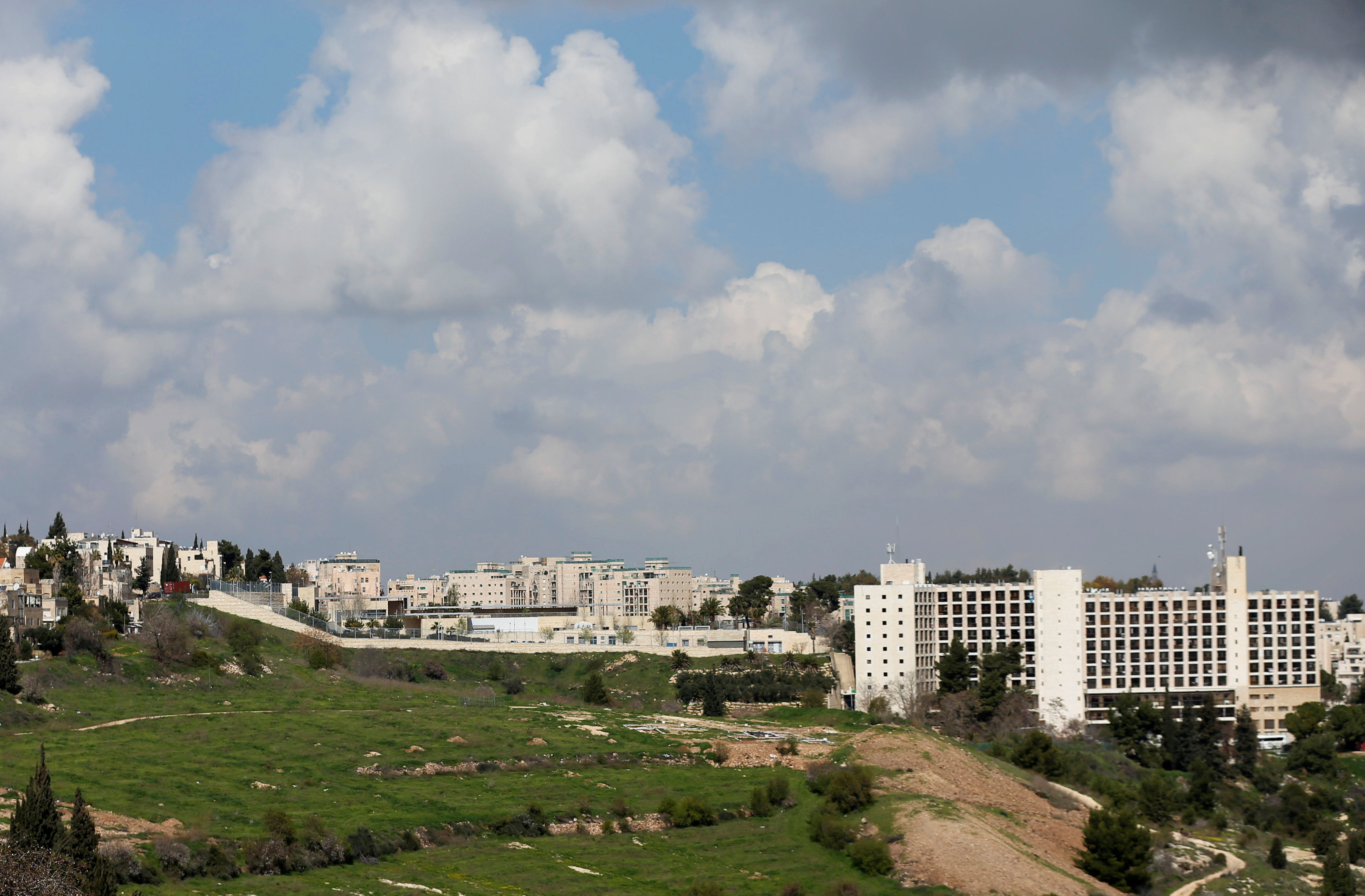 FILE PHOTO: View of the U.S. consulate in Jerusalem February 24, 2018. REUTERS/Ammar Awad/File Photo