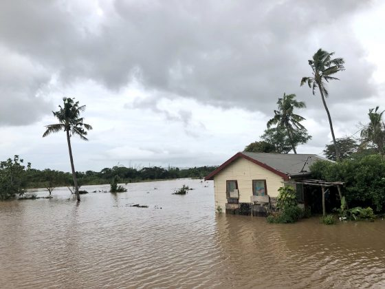 FILE PHOTO - A view of floodwater from Tropical Cyclone Josie in Nailaga Village, Ba, Fiji March 31, 2018 in this image obtained from social media. Picture taken March 31, 2018. Naziah Ali via REUTERS