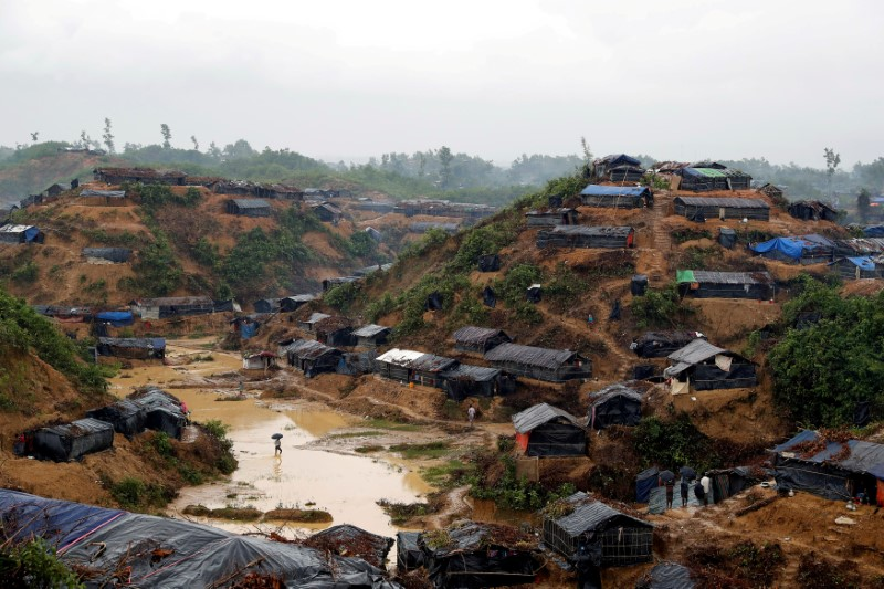 FILE PHOTO: A Rohingya refugee camp in Cox's Bazar, Bangladesh, September 19, 2017. REUTERS/Cathal McNaughton/File Photo