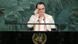Philippine Foreign Affairs Secretary Alan Peter Cayetano addresses the 72nd United Nations General Assembly at U.N. headquarters in New York, U.S., September 23, 2017. REUTERS/Eduardo Munoz