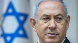 FILE PHOTO: Israeli Prime Minister Benjamin Netanyahu attends the weekly cabinet meeting at the Prime Minister's office in Jerusalem, May 6, 2018. Jim Hollander/Pool via Reuters