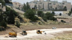 FILE PHOTO: Construction site is seen near the U.S. consulate in Jerusalem, May 1, 2018. REUTERS/Ammar Awad/File Photo