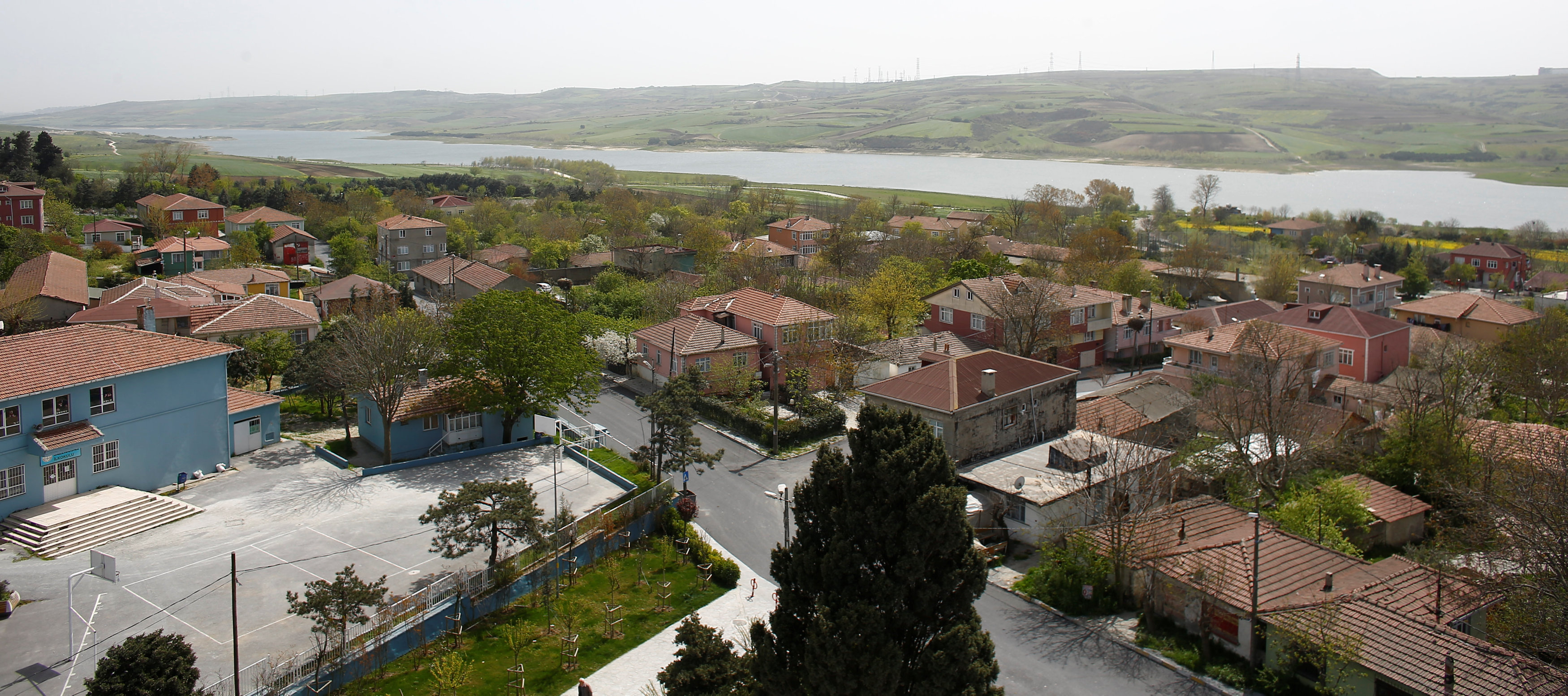 A general view shows the village of Sazlibosna in Istanbul, Turkey, April 16, 2018. Picture taken April 16, 2018. REUTERS/Osman Orsal