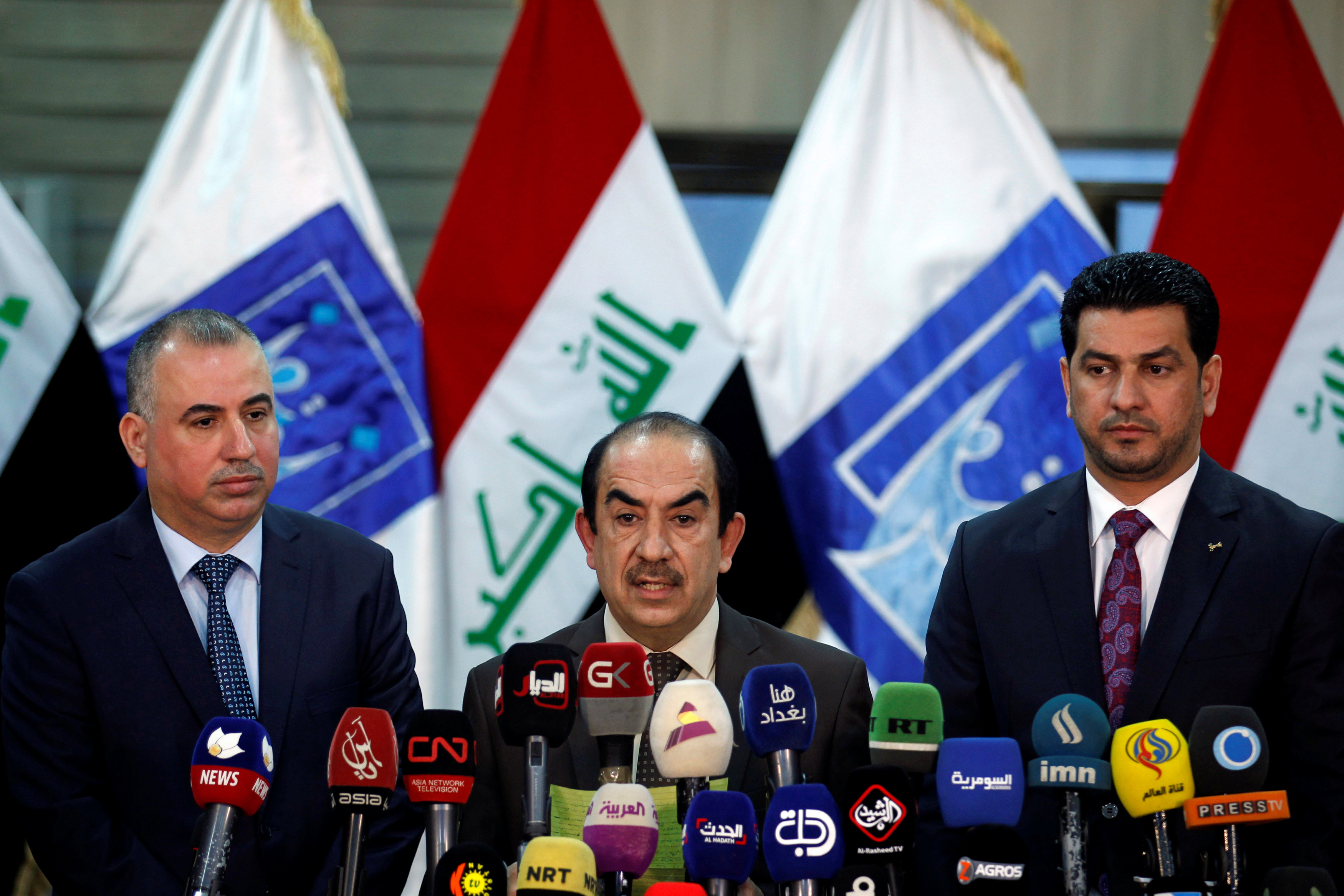 The head of Iraq's Independent Higher Election Commission Riyadh al-Badran speaks during a news conference in Baghdad, Iraq May 16, 2018. REUTERS/Khalid al Mousily