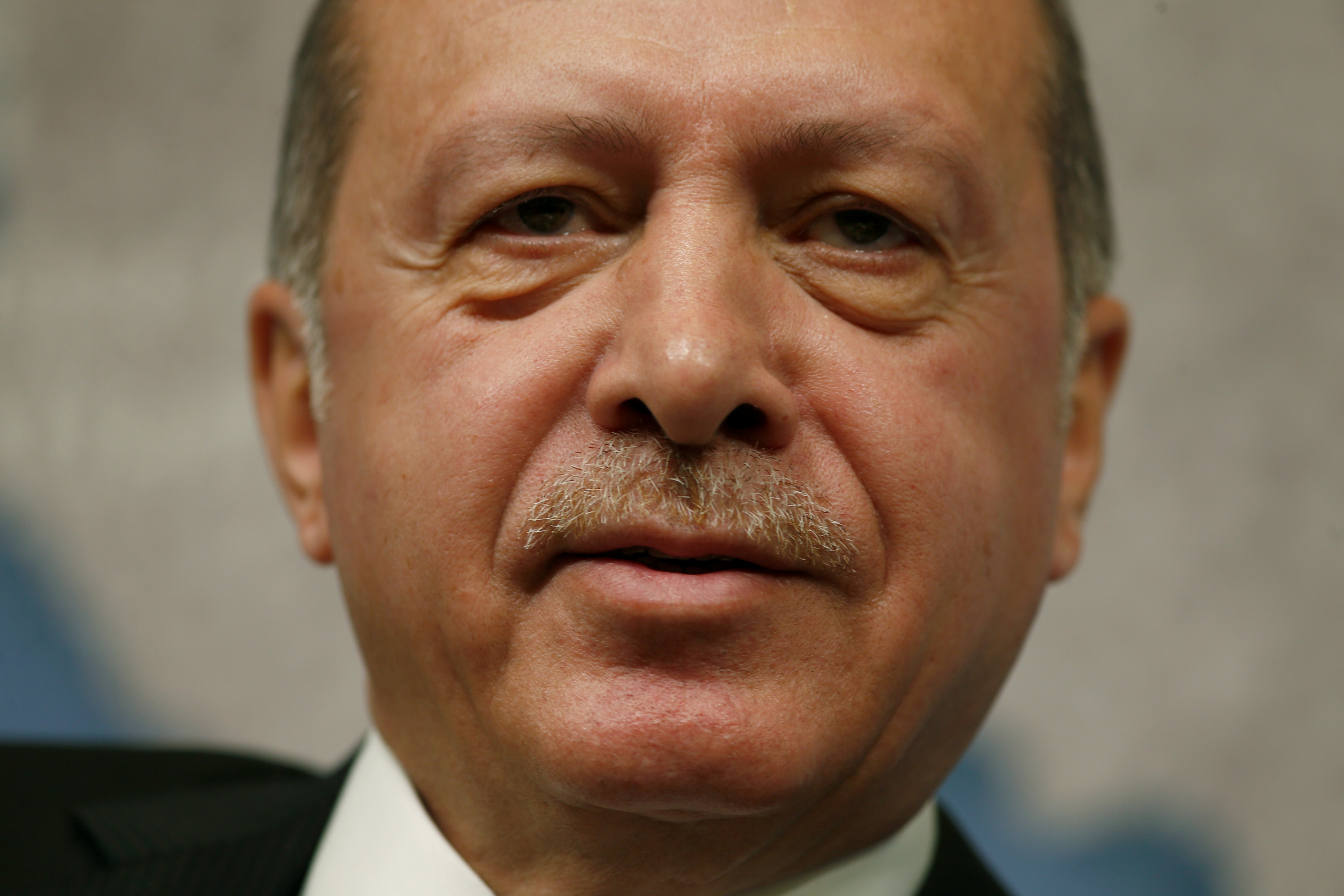 FILE PHOTO: The President of Turkey, Recep Tayyip Erdogan, speaks at Chatham House in central London, Britain May 14, 2018. REUTERS/Henry Nicholls/File Photo
