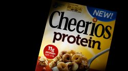 FILE PHOTO: A box of Cheerios cereal, fortified with soy and pea protein, is seen in this photo illustration in Wilmette, Illinois, U.S., September 12, 2014. REUTERS/Jim Young/File Photo