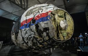 FILE PHOTO: The reconstructed wreckage of Malaysia Airlines flight MH17 which crashed over Ukraine in July 2014 is seen in Gilze Rijen, Netherlands, October 13, 2015. REUTERS/Michael Kooren/File Photo