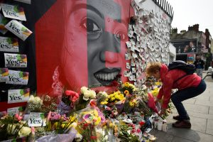 Messages are left at a memorial to Savita Halappanava a day after an Abortion Referendum to liberalise abortion laws was passed by popular vote, in Dublin, Ireland May 27, 2018. REUTERS/Clodagh Kilcoyne